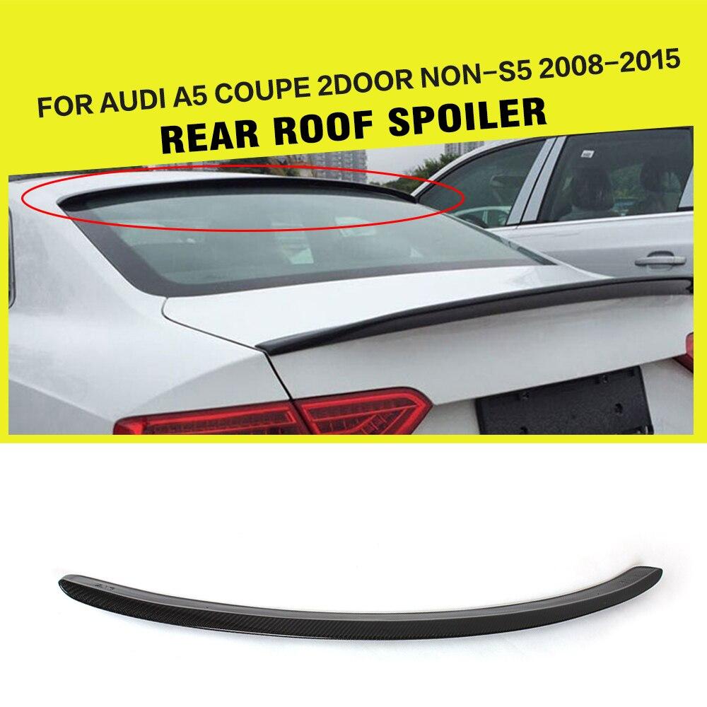 d6aa36d96 الكربون الألياف سيارة سقف الجناح المفسد نافذة الشفاه لأودي A5 كوبيه  2008-2015