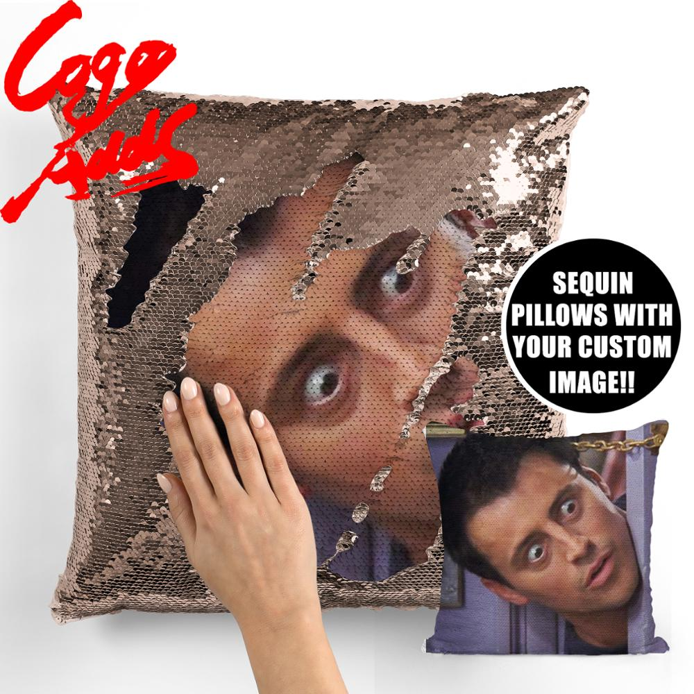 Image 3 - Friends TV SHOW sequin pillows Joey Tribbiani Quote Home Decor, Pillow Cover, Gift for Her, Gift for Him, Housewarming Gift, Gra-in Cushion Cover from Home & Garden