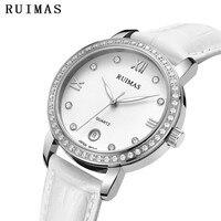Ladies Luxury Watch Female Leather Analog Quartz Watches Fashion Women Wristwatches Relogio Feminino RUIMAS Girls Jewels Clock