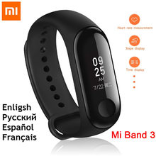 "100% Original Xiaomi Mi Band 3 Smart Wristband Bracelet 0.78"" OLED Touchscreen 5ATM Swim Reject-Call Pulse Heart Rate Step Time(China)"