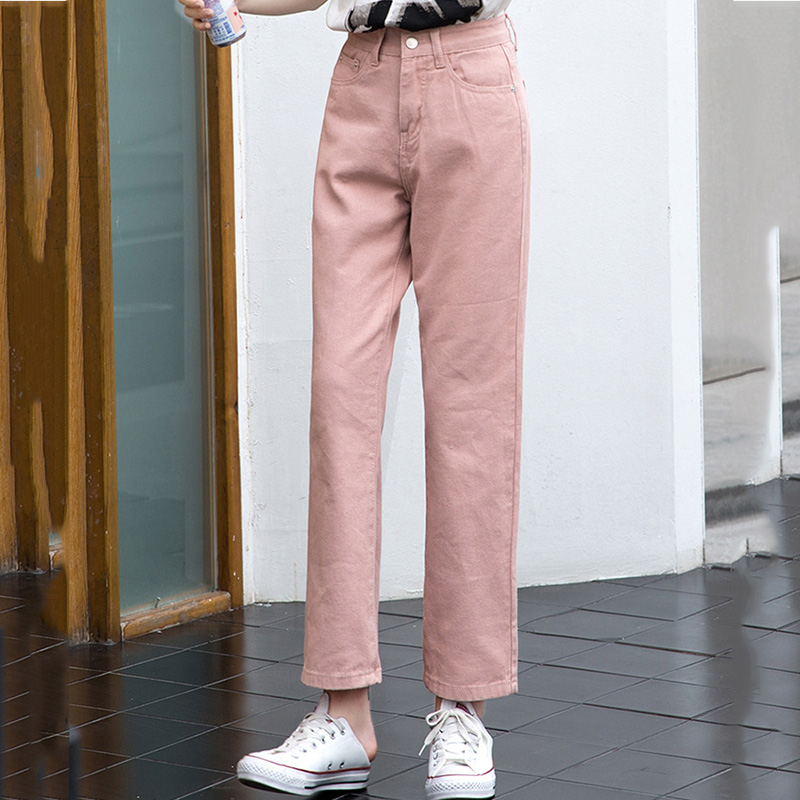 2019 Fashion  Jeans Woman High Waist Boyfriend Jeans For Women Plus Size Blue Black White Denim Mom Jeans Pants Trousers