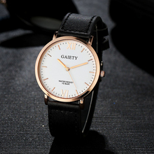 New Trend Girls Leather-based Watch Girls Black Gold Quartz Watches Easy Roman Numerals Costume Clock Wrist Watch For Girls