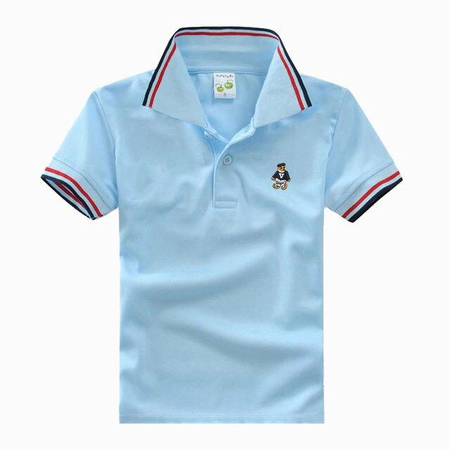 45afb2f8d67ea Haute Qualité Enfants de t-shirt à manches courtes enfants polo chemises  uniforme scolaire vêtements