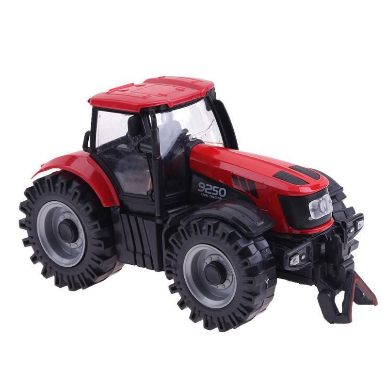 1:28 /1:36 Scale Simulation Vehicle Farmer Car Agricultural Tractor Pull Back Toy Kids Light Music Hard-Top Car Simulation Toys