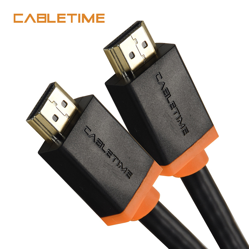 Cabletime New Thunderbolt HDMI Cable 4K 2.0 60hz HDMI TO HDMI Cable Adapter 1m 1.8m 3m 5m Audio extractor for PC Display N047