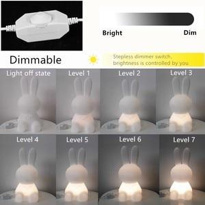 Image 4 - 36 ซม.การ์ตูนกระต่ายกระต่ายกระต่ายโคมไฟLed Night Lightสำหรับเด็กของขวัญห้องนั่งเล่นข้างเตียงโต๊ะDimmableเด็กLight