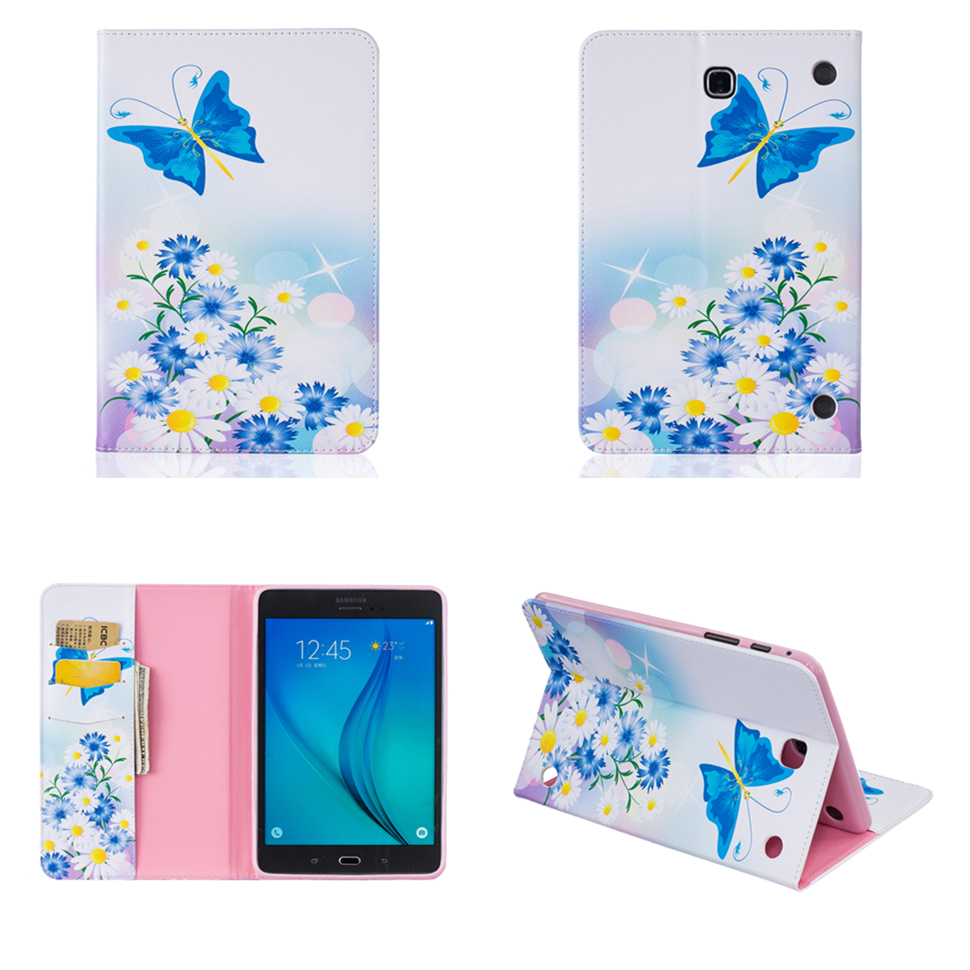 For Samsung Galaxy Tab A 8.0 T350 T351 T355 PU Leather Cover Case For Galaxy Tab T377 T555 T560 T561 T715 T815 T580 T585