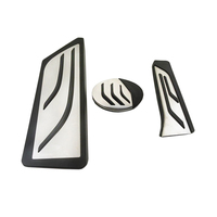 Styling!3pcs Gas Fuel Brake Footrest Pedal Plate Pad For BMW X1 2 SeriesTouring 218i 220i 220d 225xe AT
