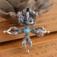 Herten koning S925 zilveren sieraden groothandel Zilveren Antieke Stijl Heren olifant god ritueel Hanger