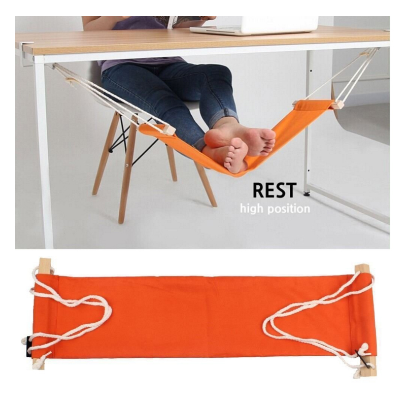 Desk Feet Hammock Foot Chair Care Tool The Foot Hammock Outdoor Rest Cot Portable Office Foot Hammock Mini Feet Rest(China)