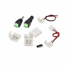 """5 יחידות 10 מ""""מ RGB 4pin 2Pin צבע יחיד משלוח אביזרי ריתוך הלחמה PCB כדי כבל מתאם עבור 5050 LED רצועת PCB אור"""