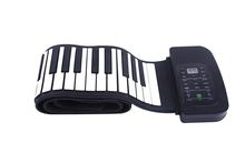 Electronic Piano 88 Keys Flexible Silicon Roll up Piano with built-in Speaker & MIDI Electronic Keyboards