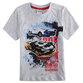 boys T-shirt with lovely cartoon printed car Nova kids clothes new fashion summer style short sleeves children clothes C6340D