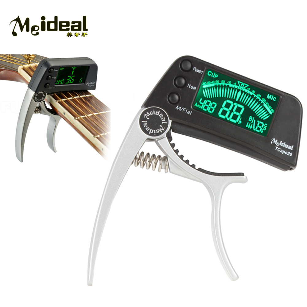 Meideal TCapo20 Clip-On Digital Guitar Capo Tuner LED Display High Sensitivity & Accuracy Musical Instrument Parts Accessories dedo ma 11 zinc alloy capo clip on quick release capo for guitar silver