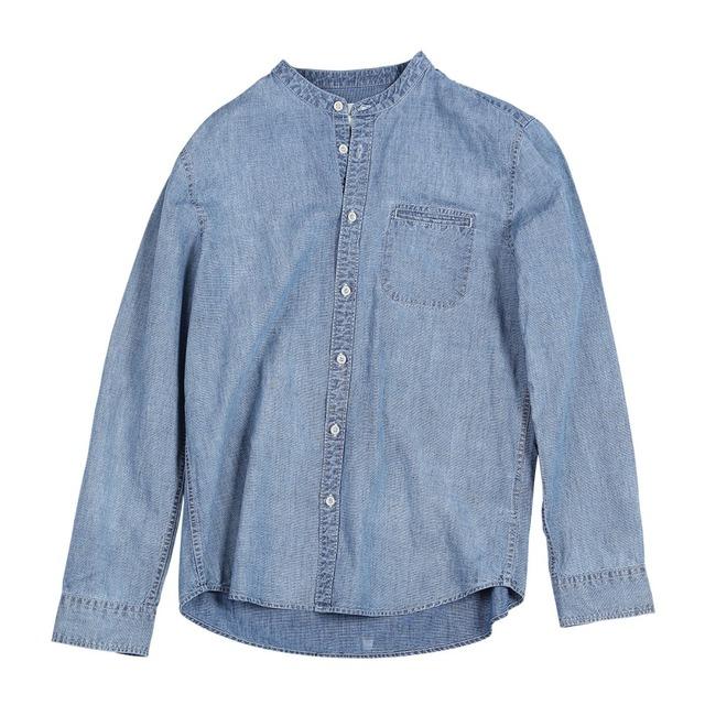 Men's Denim Shirts 100% Cotton Casual Long Sleeve