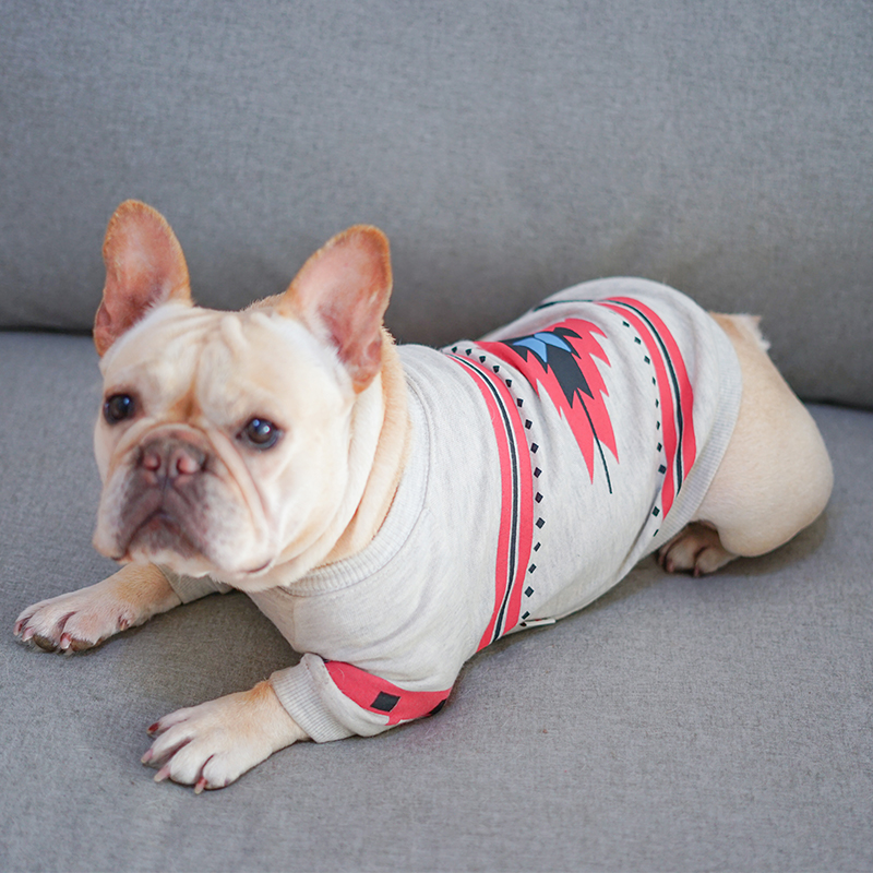 Dog Clothes for Small Dogs Cotton Sweater for French Bulldog Chihuahua Coat Pet Clothing Ethnic Style Warm Puppy Pug Dog Costume