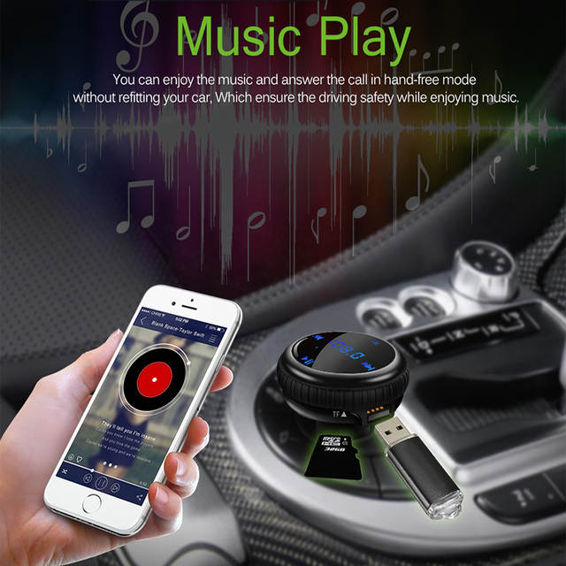 Onever Car Mp3 Fm Transmitter App Gps Car Finder Locator Bluetooth
