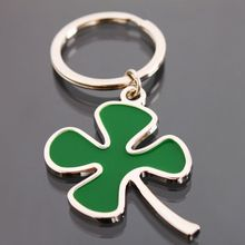 New good luck green four leaves clover Key Ring men women clover Chain Keychain Creative Hot Sell jewelry gift