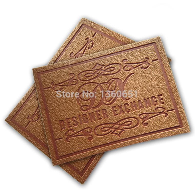 Étiquette en cuir PU imprimée et en relief pour sacs Jeans 1000 pièces lot d'étiquettes en cuir véritable-in Etiquettes de vêtement from Maison & Animalerie    1