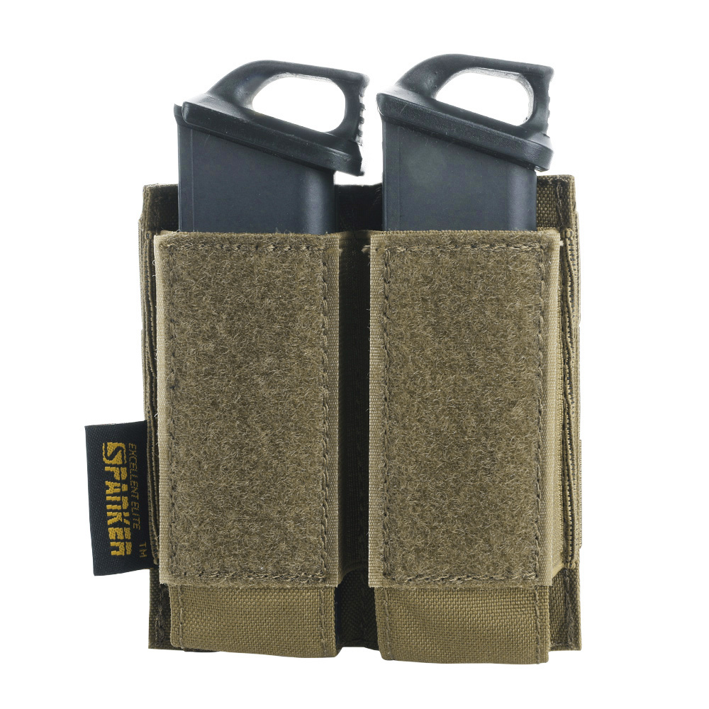 Tactical Pistol Molle Magazine Pouch Military Glock Double Clip Small Bag Paintball Game Accessory