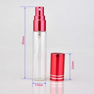 Image 2 - Botella de Perfume de cristal colorida portátil, con atomizador, envases cosméticos vacíos para botellas de viaje, 10ML, 20 unids/lote