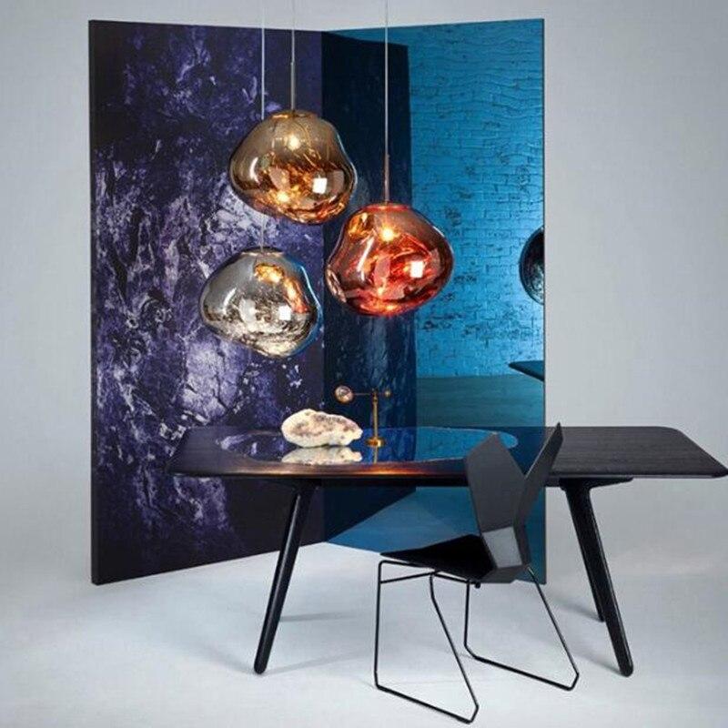 Nordic Tom DIXON Lava Melt Pendant Lights Art Glass Hanging Light Villa Living Room Bedroom Lamp Restaurant Bar Light Fixtures