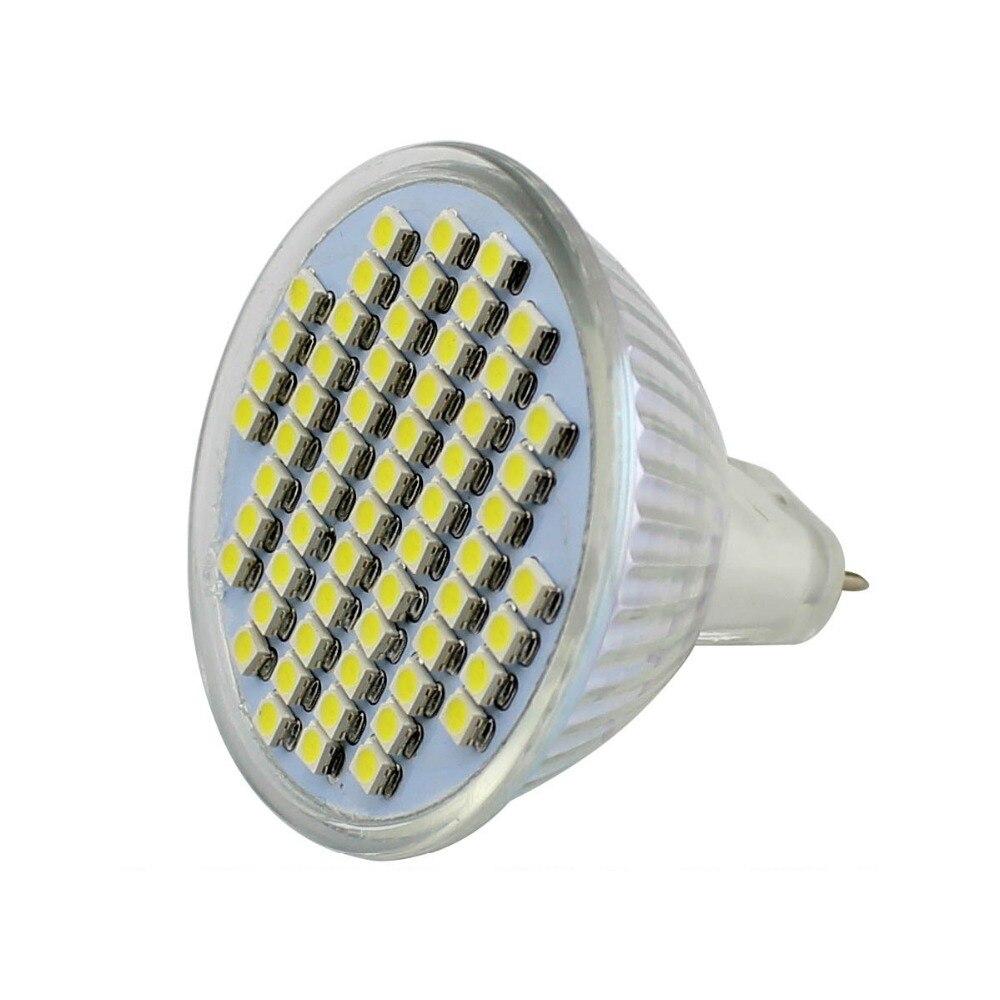 5x led spotlight mr16 12v bulb light 3W smd 3528 60leds 350 lumens ...
