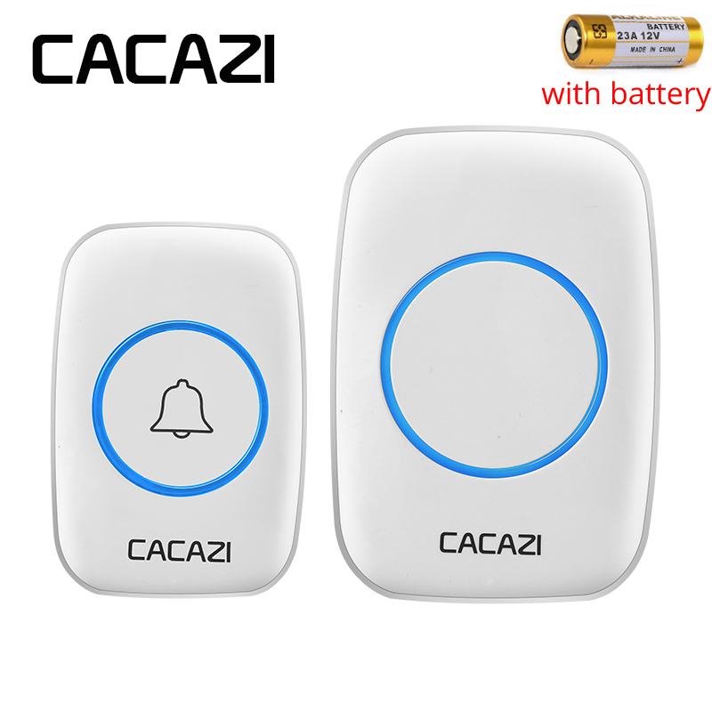 CACAZI Waterproof cover Wireless Doorbell ring 300M Long Remote With Battery home smart Door Bell 110V 220V 1 button 1 receiver женские часы 33 element 331709