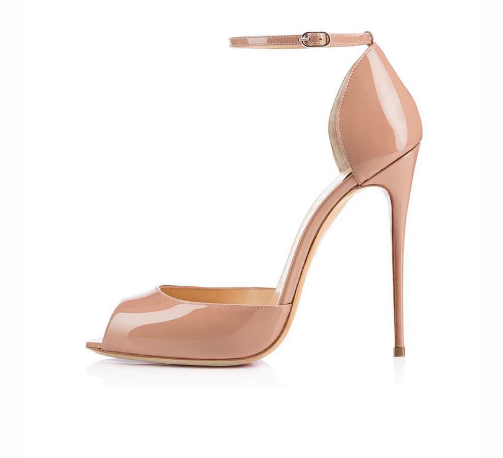 Women Ladies Fashion Open Toe High Heel Sandals Ankle Strap Peep Toe Stiletto Sandals Sexy Shoes Buckle Closure Heel Height 12cm  miquinha summer fashion casual shoes women sandalia feminina open round toe buckle strap square heel shoes sexy ladies sandals