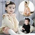 Una nueva primavera dulce niña camisa Princesa del agárico arrugas del cuello Chaqueta de Manga Farol B-XBK-SY-05