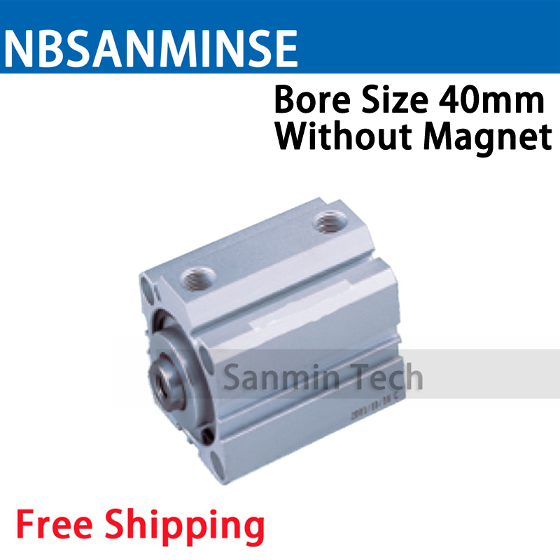 SDA Series Without Magnet 40mm Bore Size Compact Cylinder AirTAC Type Double Acting Cylinder Pneumatic Parts NBSANMINSE high quality double acting pneumatic gripper mhy2 25d smc type 180 degree angular style air cylinder aluminium clamps