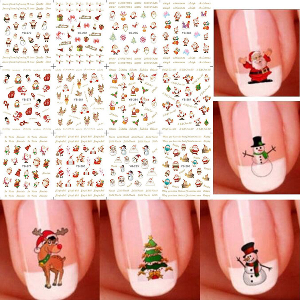 Cute nail art stickers yzwle sheet new fashion lovely cute cat view images aliexpress buy sheet christmas d nail art prinsesfo Gallery