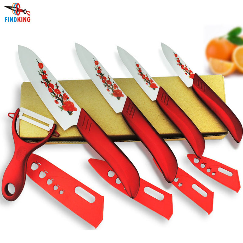 FINDKING Kit Knife-Set Ceramic Kitchen Covers Peeler Fruit 6--Inch Zirconia Brand