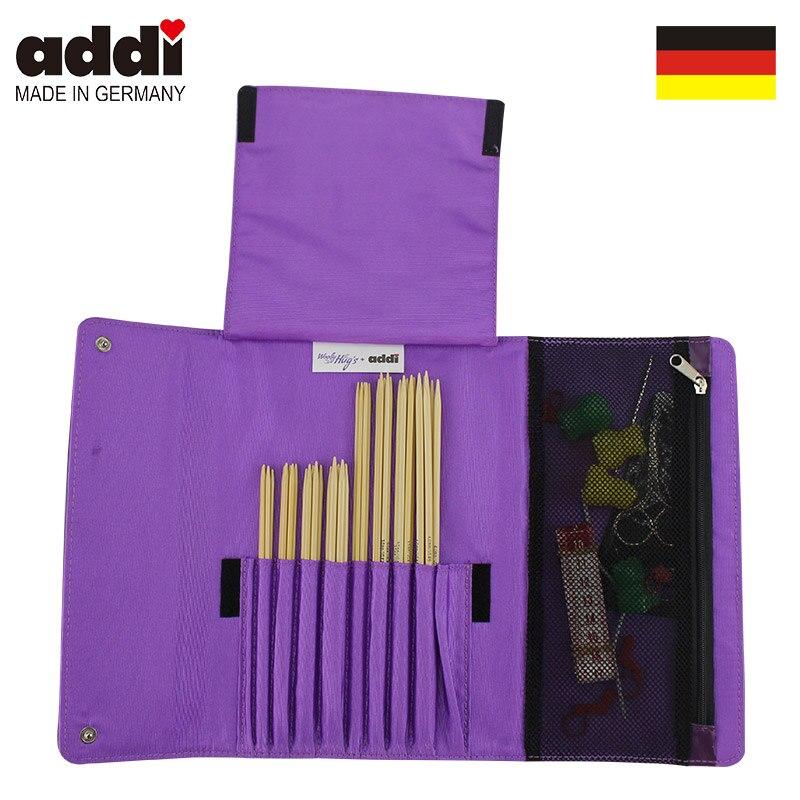 Chaussettes Addi de Woolly Hugs 8 ensemble bambou-aiguille + accessoire 601-2