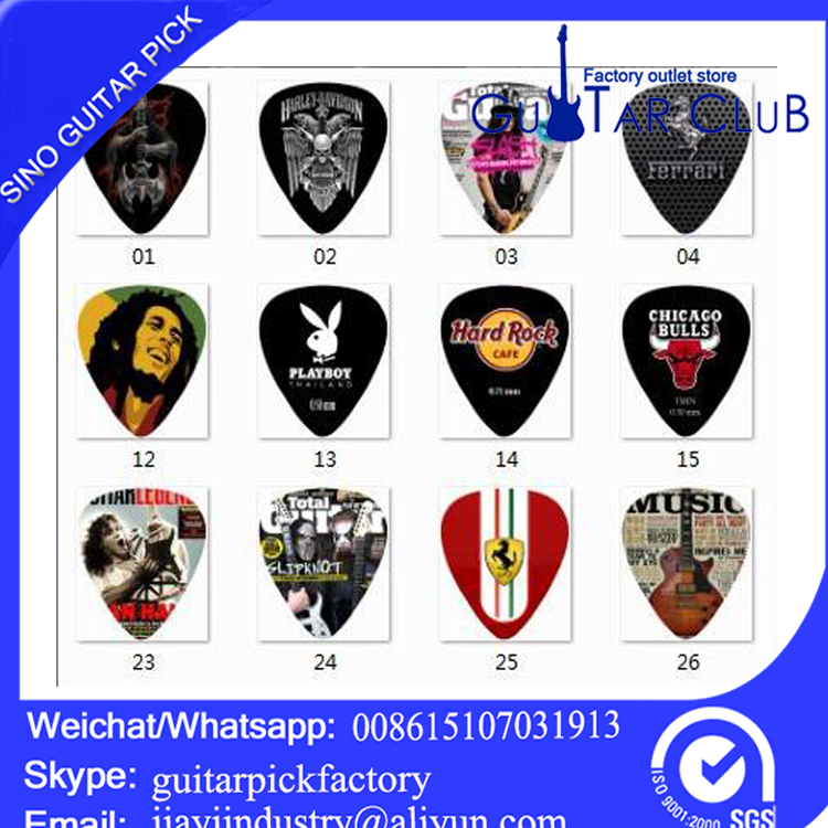 Free shipping Custom guitar picks mix design celluloid 120 pcs