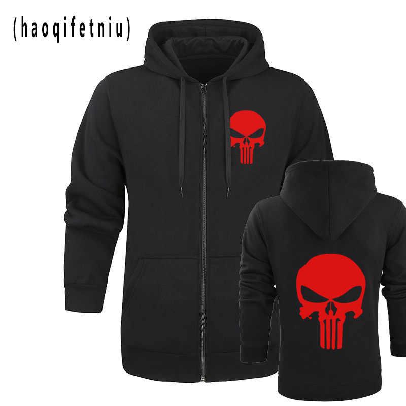 8a84876ad784c7 2018 New design 3D Punisher Hoodies Sweatshirts Lycra Civil War Avengers  Cosplay Costume Fitness Autumn Jacket