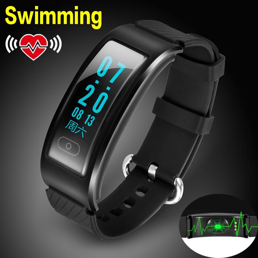 imágenes para Metal nadar bluetooth smart watch reloj pulsómetro sport fitness reloj smartwatch para android ios