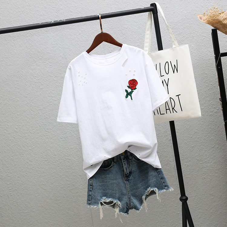 T Shirt Women Blusas Feminina Grid Printed T-Shirt Armbands Loose Tops Tee KDQ1