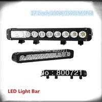 1 piece Super bright DC10 30V single beam auto 17inch 100W super bright led driving light fits offroad auto truck ATV SUV