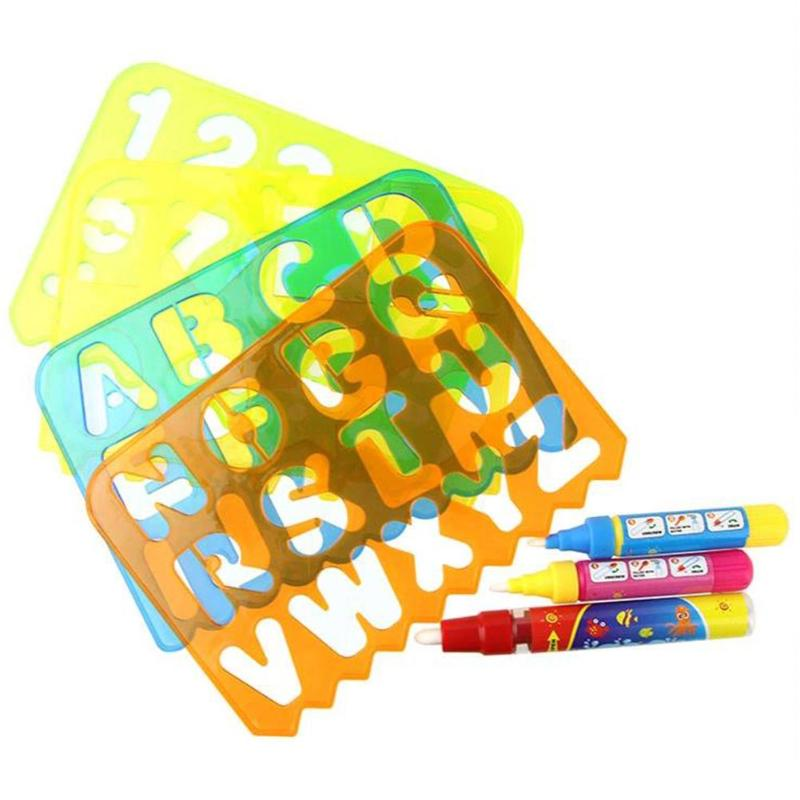 Plastic Baby Kids Drawing Toys Doodling Educational Drawing Board Stamps Toy Water painting Pens
