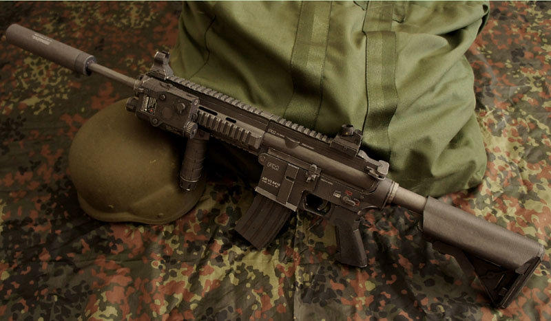 DIY 95cm 1:1 HK416 M416 Paper Model Assault Rifle Submachine Gun Puzzle Game Boy Girl Gift