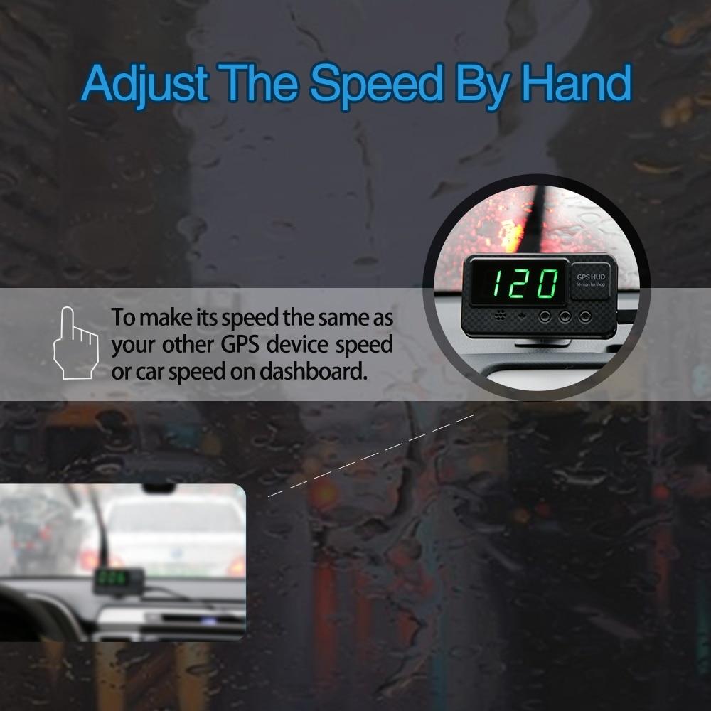 Universal hud gps velocímetro cabeça up display
