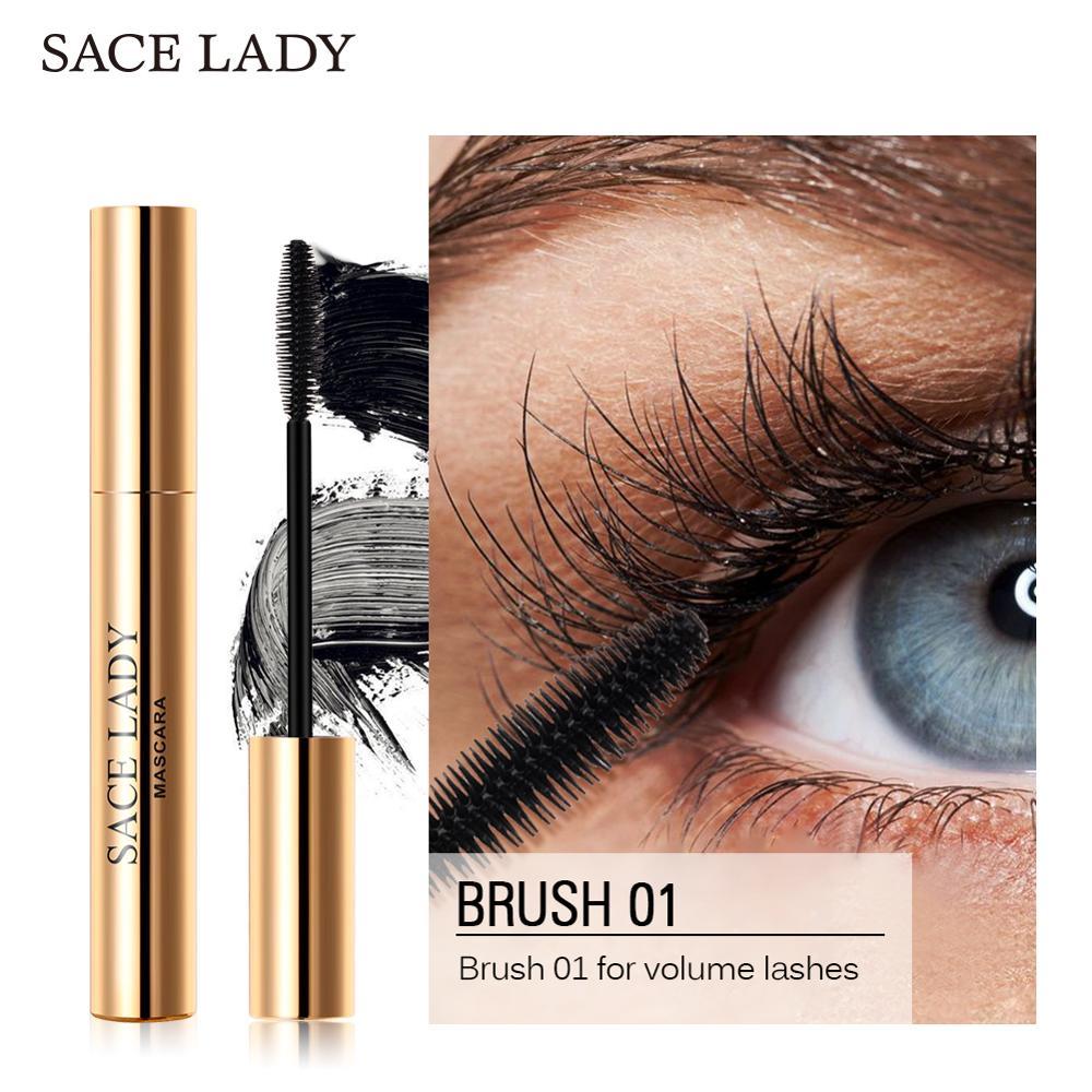 SACE LADY Eyelash Mascara Makeup Curling Thick Eyelash Waterproof 4D Silk Fiber Rimel Extension Volume Eye Lashes Cosmetic 2
