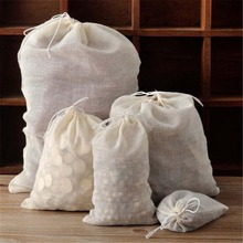 1PC Muslin Large Drawstring Reusable Storage Bags for Soap Herbs Tea S
