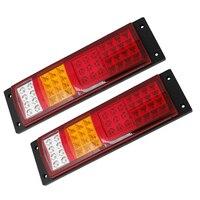 TOYL Three Color 45 LED Trailer Truck Turn Rear Tail Light Combo Lamp 2 Pcs