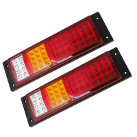 TOYL Three Color 45 LED Trailer Truck Turn Rear Tail Light Combo Lamp 2 Pcs