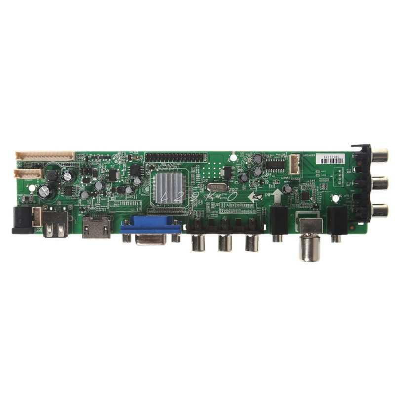 V56 V59 لوحة تحكم شاملة في التلفزيون الإل سي دي لوحة للقيادة DVB-T2 التلفزيون مجلس 7 مفتاح التبديل IR 1 مصباح العاكس LVDS كابل عدة 3663