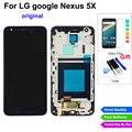 Original nexus 5x lcd para lg google nexus 5x h790 h791 pantalla lcd de pantalla táctil digitalizador asamblea con marco completo