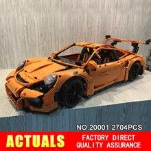New font b LEPIN b font 20001 technic series 911 GT3 RS Race Car Model Building