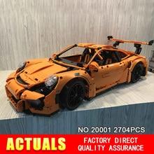 Nueva LEPIN 20001 serie técnica 911 GT3 RS Coche de Carreras Kits de Edificio modelo mini figura Bloques Ladrillos Compatibles 42056 Niños regalo